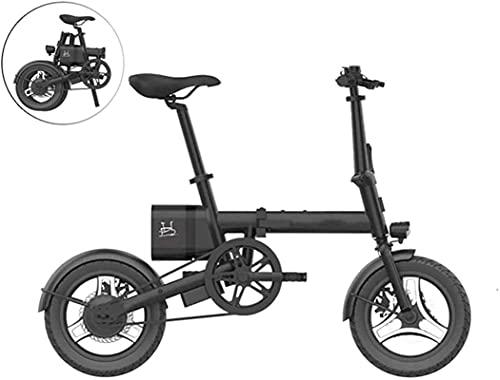 Bicicleta eléctrica de Nieve, Bicicletas eléctricas rápidas para Adultos Bicicleta eléctrica de Aluminio eléctrico de 16 Pulgadas para Adultos E-bicic.