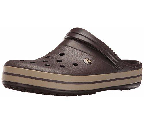 Crocs Crocband Clog | Comfortable Slip on Casual Water Shoe, Espresso/Khaki