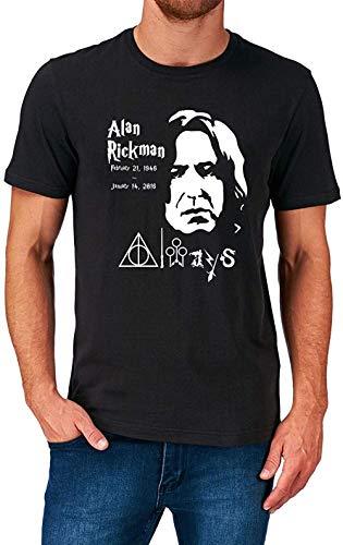 Alan Rickman T Shirt Film Movie Actor Tribute S-5XL,Black,XL
