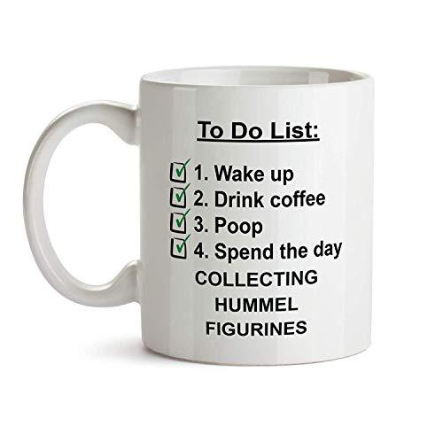 Taza de regalo para hacer - Colección de figuras de Hummel, lista de verificación, taza de café, té, regalo para Navidad, tema divertido, cita temática Saing I Love, regalo para hombres, mujeres, Navi