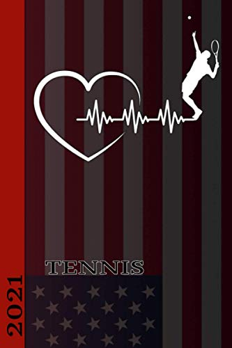 Tennis 2021: Tennis Calendar 2021. Great calendar with American national sport. Perfect as a diary or personal organizer. Also as a gift.