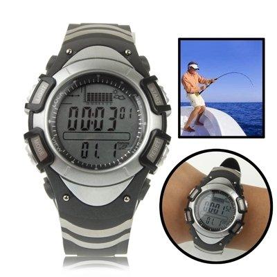 L.J.JZDY Herramienta de Pesca Reloj de barómetro de Pesca Digital con termómetro/altímetro/Resistencia/visualización de la Tabla de Tendencia de presión / 30m Impermeable/tormenta de Pesca de Alarma