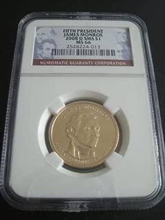 2008-D James Monroe Presidential Dollar -- Gem BU Uncirculated