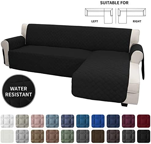 Best Easy-Going Sofa Slipcover L Shape Sofa Cover Sectional Couch Cover Chaise Lounge Slip Cover Reversib
