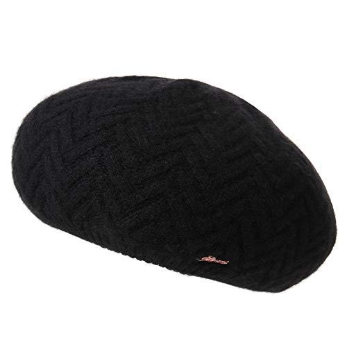 ベレー帽ニット帽子キャップハットベレーレディース秋冬用ぼうしリブカシミヤかわいいおしゃれ大きいサイズシンプル黒