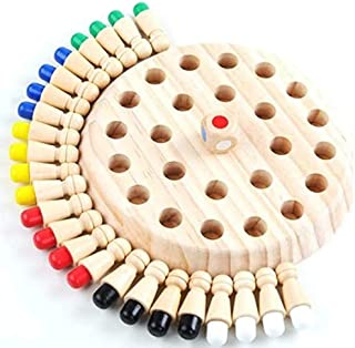 Wooden Memory Match Stick Chess Game Set, Funny Block Board Game Parent-Child Interaction Toy for Boys and Girls Age 3 and Up