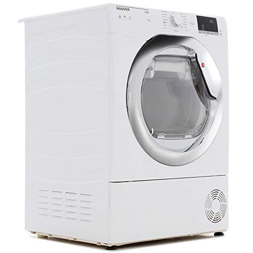 Hoover HLC9DCE Link 9kg Freestanding Condenser Sensor Tumble Dryer With One Touch - White
