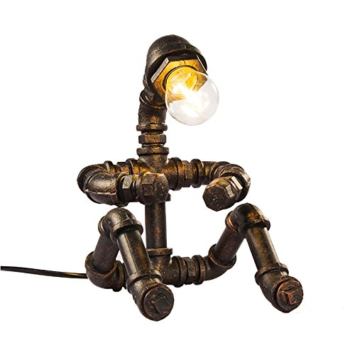 ZWL Loft Iron Retro Lamp, Style industriel Water Pipe Light Protection des yeux Light Restaurant Lights Bar Lamp Coffee Shop Lampes décoratives E27 Lampes 17 * 25 * 16CM fashion.z ( taille : 17*25*16CM )