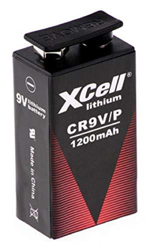 4 x 9 V blok lithium batterijen voor rookmelder, brandmelder, 10-jarige batterij accu uman.de set
