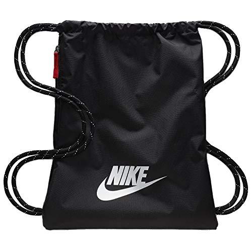 Nike Heritage 2.0 Gymbag Gymsack Turnbeutel (Black/White, one Size)