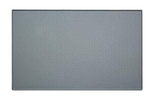 Earthbay Silikon Futtermatten, 60x40CM Tiernahrung Matte Platzdeckchen Wasserdicht rutschfest für Hund Katze (Grau) - 2