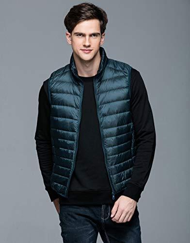 BAONUANY Gilet Mensen, Groene Lente Man Eend Down Vest Ultra Light Jassen Mannen Mode Mouwloos Bovenkleding Jas Herfst Winter Jas