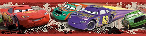 RoomMates RMK1516BCS RM - DISNEY Cars Piston Cup Bordüre Wandtattoo, bunt, 23.5 x 13 x 2.5 cm