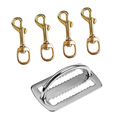 yotijar Clip para mosquetón giratorio de 4 piezas y cinturón para pesos.