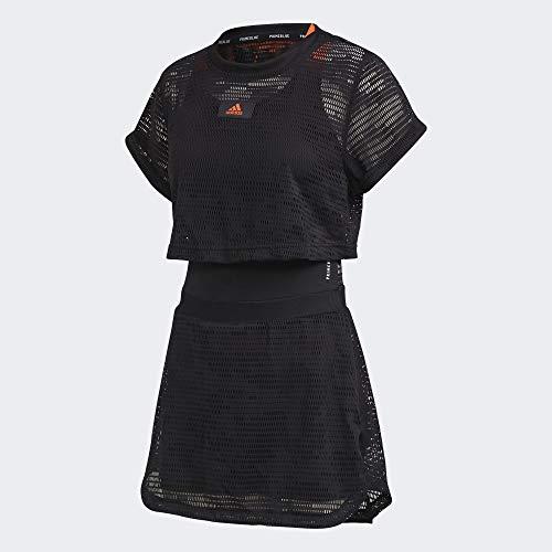 adidas Dress P.Blue Vestido, Mujer, Negro, L