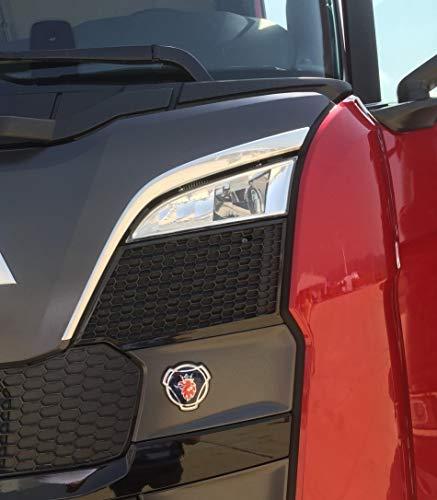 VNVIS 2 Accessori Decorativi V8 in Acciaio Inox lucidato a Specchio per Camion Scania R 2004-2015
