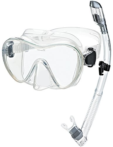 Phantom Aquatics Scuba Snorkeling Freediving Mask Snorkel Set
