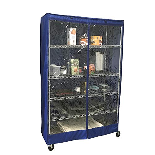 Formosa Covers Storage Shelving Unit Cover, fits Racks 48' Wx18 Dx72 H Royal, one Side See Through Panel (Cover only)