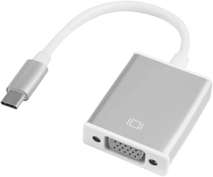 Guangcailun USB-C USB Type Adaptateur VGA C Adaptateur VGA 1080P Convertisseur Pris en Charge par c/âble