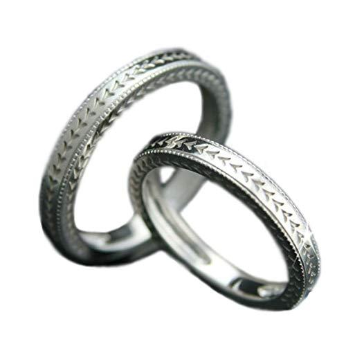 [ココカル]cococaru ペアリング シルバー リング2本セット マリッジリング 結婚指輪 日本製 (レディースサイズ10号 メンズサイズ11号)