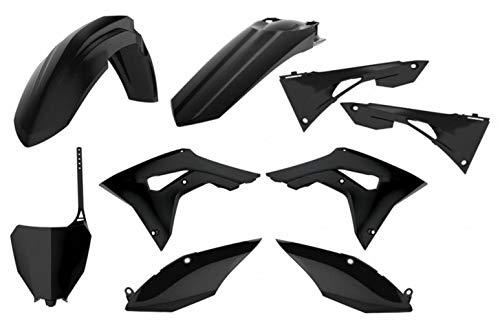 Kit plastique POLISPORT noir Honda CRF450R/RX
