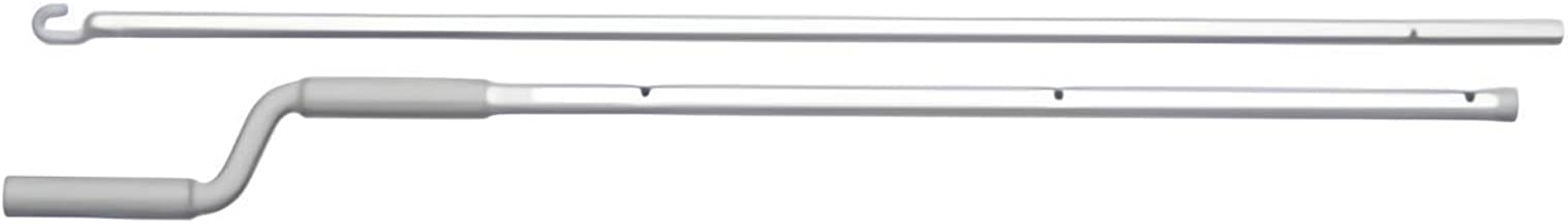 Velux Zct300 6'-10' Rod for Manual Vent Skylight, Plastic, White