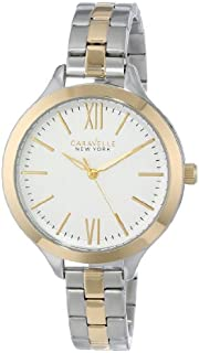Caravelle New York Women's 45L139 Analog Display Japanese Quartz Two Tone Watch