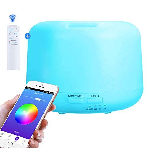 NEWKBO 300 ml Smart Aroma Aceite Esencial Difusor App/WiFi Mando a Distancia Humidificador Purificador De Aire