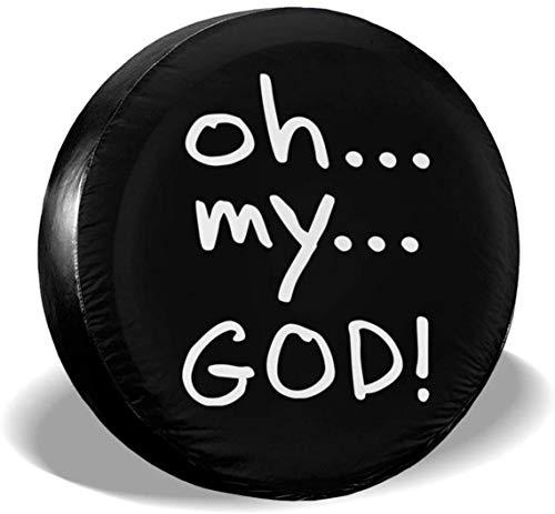 MODORSAN Oh My God Cubierta de neumático de Rueda de Repuesto de poliéster Cubiertas de Rueda universales para Jeep, Remolque, RV, SUV, camión, Accesorios, 14 Pulgadas