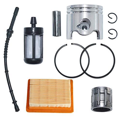 Best Bargain AUMEL 38mm Piston Ring Air Fuel Filter Hose Line Kit for Stihl FS120 FS200 FS250 Trimme...