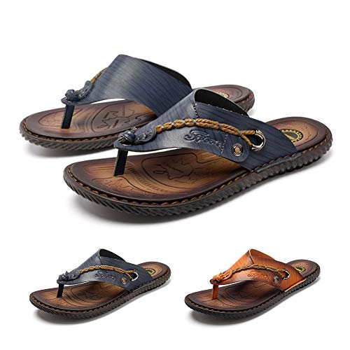 gracosy Flip Flops Unisex Sandalen Flache Hausschuhe Pantoletten Sommer Schuhe Slippers Weich Anti-Rutsch T-Strap Sandalen für Herren Damen