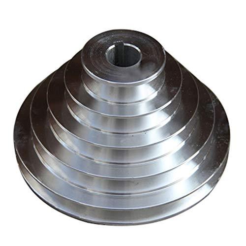 A-tipo 25 mm Bore de aluminio de 5 ranuras Rueda de pagoda, bandeja de pagoda, accesorios de la máquina de la máquina, taladro de banco, Torre de 4 tragamonedas Polea Polea Taper Agujero interior para