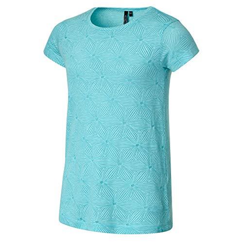 CMP Mädchen T-Shirt with floral Print 60% Cotton, Jade, 176