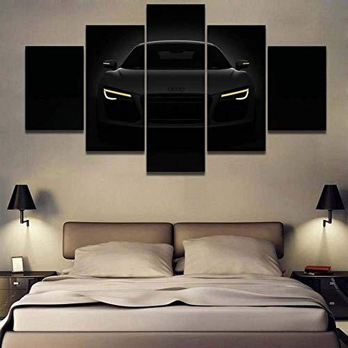 ARXYD Audi Auto druckt auf Leinwand 5 Stück Leinwand Wandkunst Moderne Wanddekoration Home Wohnzimmer Dekoration Kreatives Geschenk Poster