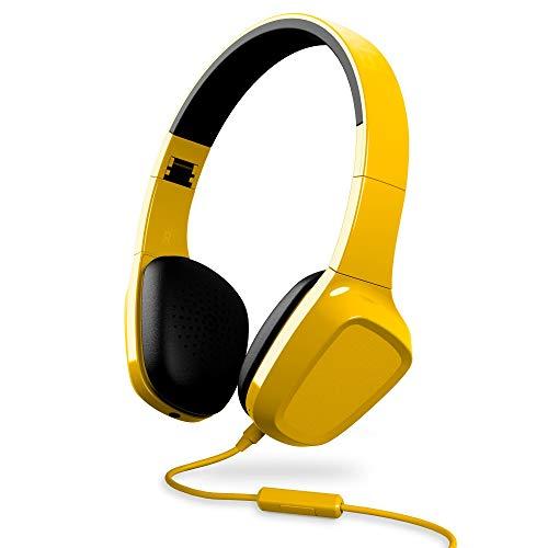 Energy Sistem Headphones 1 (Auriculares, micrófono, Control reproducción,Entrada por Cable, diamema Extensible, rotación de 10 Grados) - Amarillo