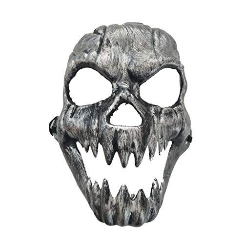 XWYWP Mscara de Halloween Scary Fantasma Calavera Antigua Mscara de Boca Hueco Ojos Esqueleto Fiesta de Cara Completa Mscara Ejrcito Juegos para Halloween Cosplay 1