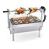 Kit de rotisserie eléctrico Máquina asada automática Parrilla portátil Spit Rotisserie/BBQ Grill, Altura de la horquilla de la parrilla ajustable para el pollo/carne/cordero
