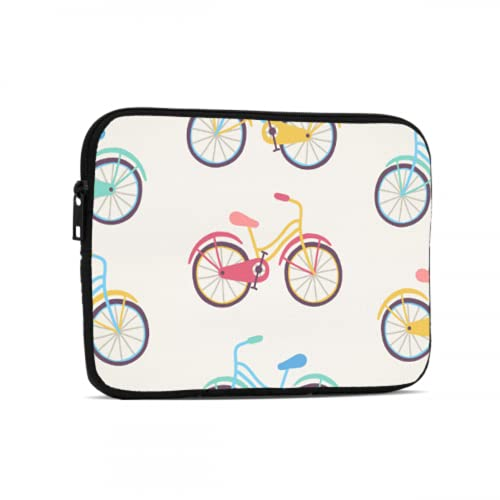 Ipad Accesorios Rueda de Bicicleta Ciclismo Juego Sport Laptop Bolsa para Hombres Compatible con Ipad 7.9/9.7 Pulgadas Neopreno Cremallera Tablet Bolsa Protectora Con Asa