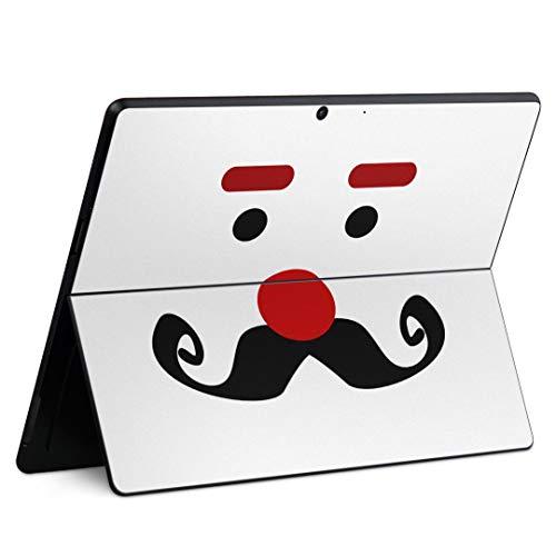 igsticker Surface Pro X 専用スキンシール サーフェス プロ エックス ノートブック ノートパソコン カバー ケース フィルム ステッカー アクセサリー 保護 002554 ユニーク ひげ イラスト