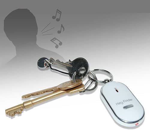 shlutesoy Keychain Finder Whistle Finder Old Age Anti-Lost Audio Induction Flash Electronic Alarm Anti-Lost Black