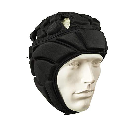 beautygoods Torwarthelm, Männer Fußball Kopfbedeckungen Verdickt Einstellbare Fußball Rugby Fußball Kopfschutz Gear Schutzhelm Protector Hut