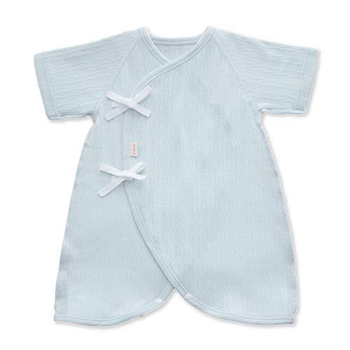 PUPO レールメッシュコンビ肌着 新生児 綿100% ホワイト/ピンク/グリーン 50-60cm 日本製 (グリーン)
