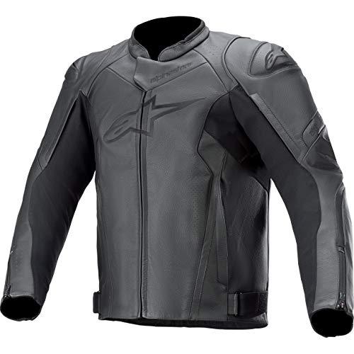 Alpinestars Motorradjacke mit Protektoren Motorrad Jacke Faster V2 Lederjacke schwarz 54, Herren, Sportler, Sommer
