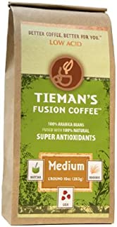 Tieman's Fusion Coffees, Medium Fusion (Ground), 10-Ounce Bags (Pack of 2)
