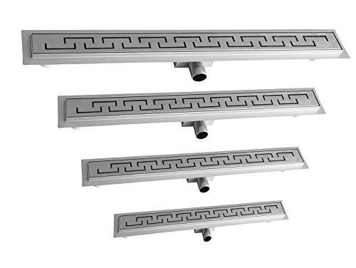 Duschrinne Bodenablauf Ablaufrinne Abflussrinne Duschablauf in verschiedenen Modellen und Größen (800 x 70 mm,