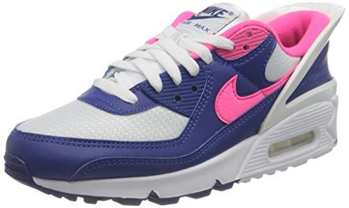 Nike Air MAX 90 flyease, Zapatillas de Running Mujer, White Hyper Pink White, 39 EU