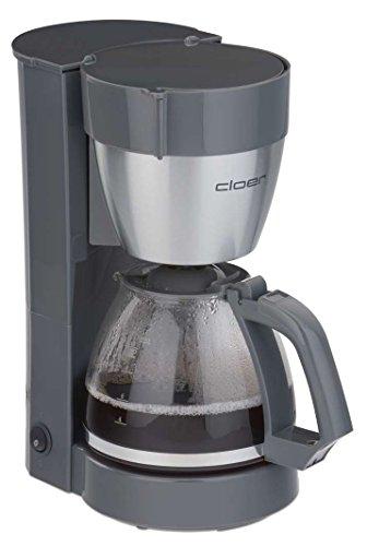 Cloer 5015 Filterkaffeeautomat in schwarz, Kunststoff, Edelstahl, Gris, Acero inoxidable
