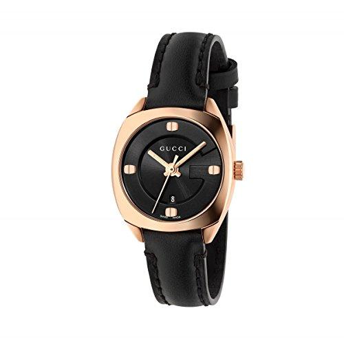 GUCCI Reloj de Mujer GG22570 Chapado en Oro Rosa de Cuero 29mm YA142509