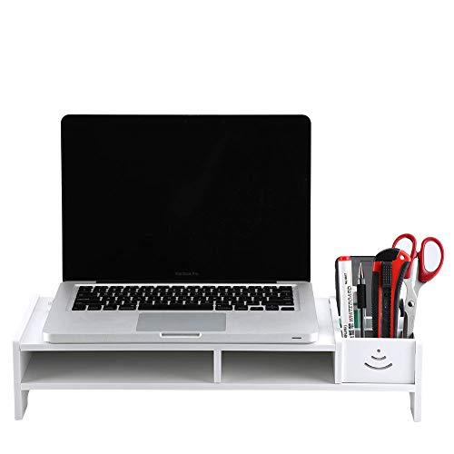 Jiawu Elevador de Escritorio, Elevador de Monitor Organizador de Almacenamiento de Mesa Soporte para computadora portátil Elevador de Monitor de computadora, Elevador de Almacenamiento Lugar