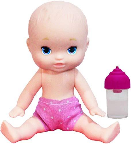 Brinquedos De Meninas Boneca Infantil Mini Dolls Little Mommy Mamadeira Mágica 15 Cm Pequena Pupee